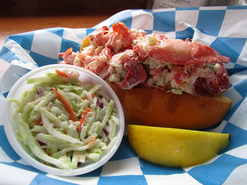 Lobster-roll-with-homemade-broccoli-slaw-by-Debbie-Tuma